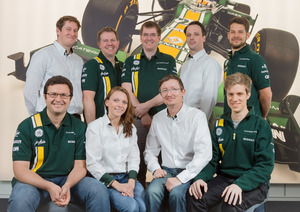 Caterham Composites team shot - April 2012