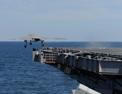 X-47B Completes First Ever Carrier Launch