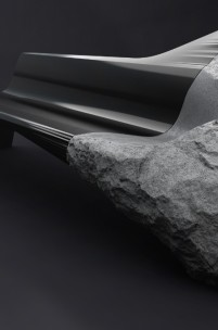Peugeot Design Labs Create Seat from Volcanic Rock & Carbon Fibre