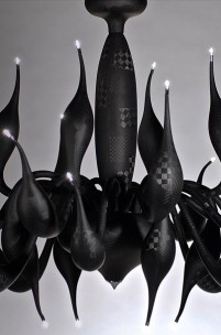 The Chandelier Made from Carbon Fibre