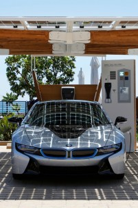 BMW's Carbon Fibre Clad Solar Powered Carport Concept