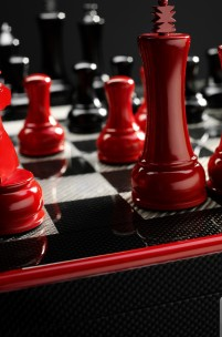 Ferrari Carbon Fibre Chess Set