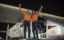 Abu Dhabi, UAE, July 26th 2016: Solar Impulse successfully landed in Abu Dhabi with Bertrand Piccard at the controls, completing the last leg of the Round-The-World journey. Departed from Abu Dhabi on march 9th 2015, the Round-the-World Solar Flight took more than 500 flight hours and covered 40í000 km. Swiss founders and pilots, Bertrand Piccard and AndrÈ Borschberg aim to demonstrate how pioneering spirit, innovation and clean technologies can change the world. The duo took turns flying Solar Impulse 2, changing at each stop and will fly over the Arabian Sea, to India, to Myanmar, to China, across the Pacific Ocean, to the United States, over the Atlantic Ocean to Southern Europe or Northern Africa before finishing the journey by returning to the initial departure point.