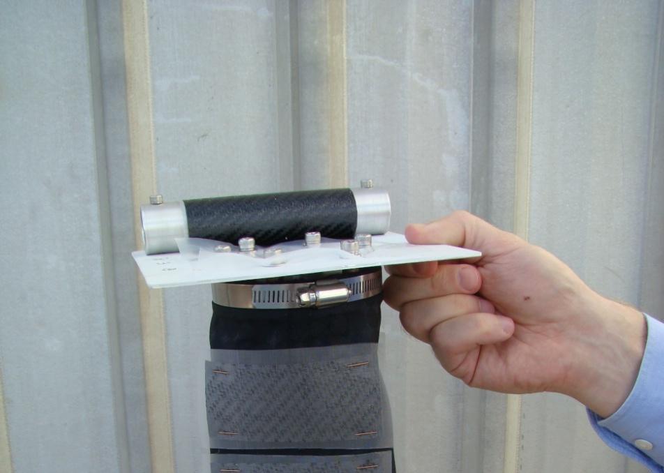 Cassette containing the prepreg samples